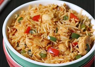 Schezwan Chicken Fried Rice