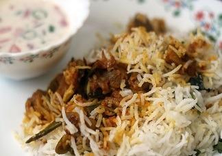 Mushroom Fry Biryani