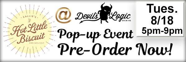 Popup Even at Devils Logic Pre Order  button