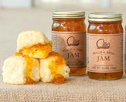 Homemade Peach Basil Jam Image