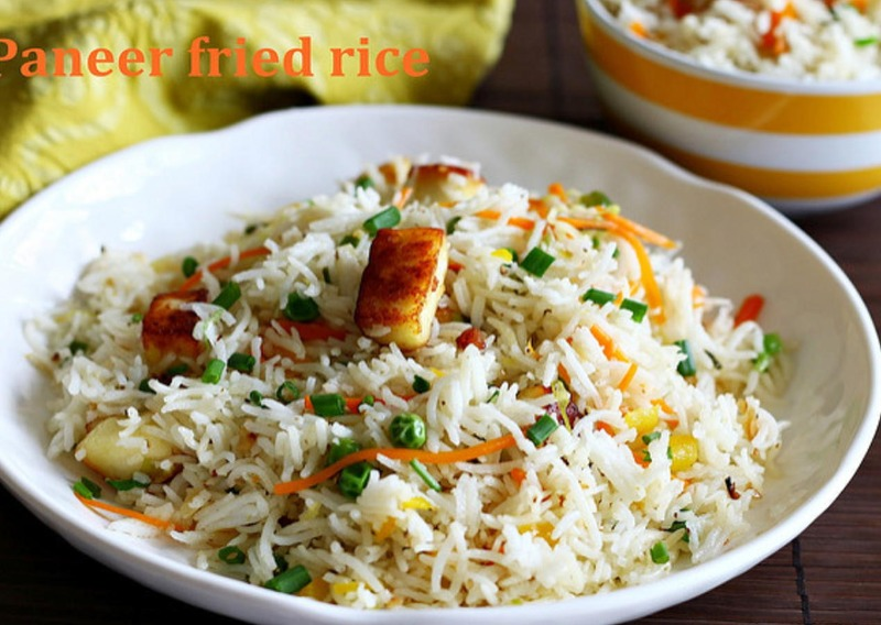 Paneer Fried Rice Bowl