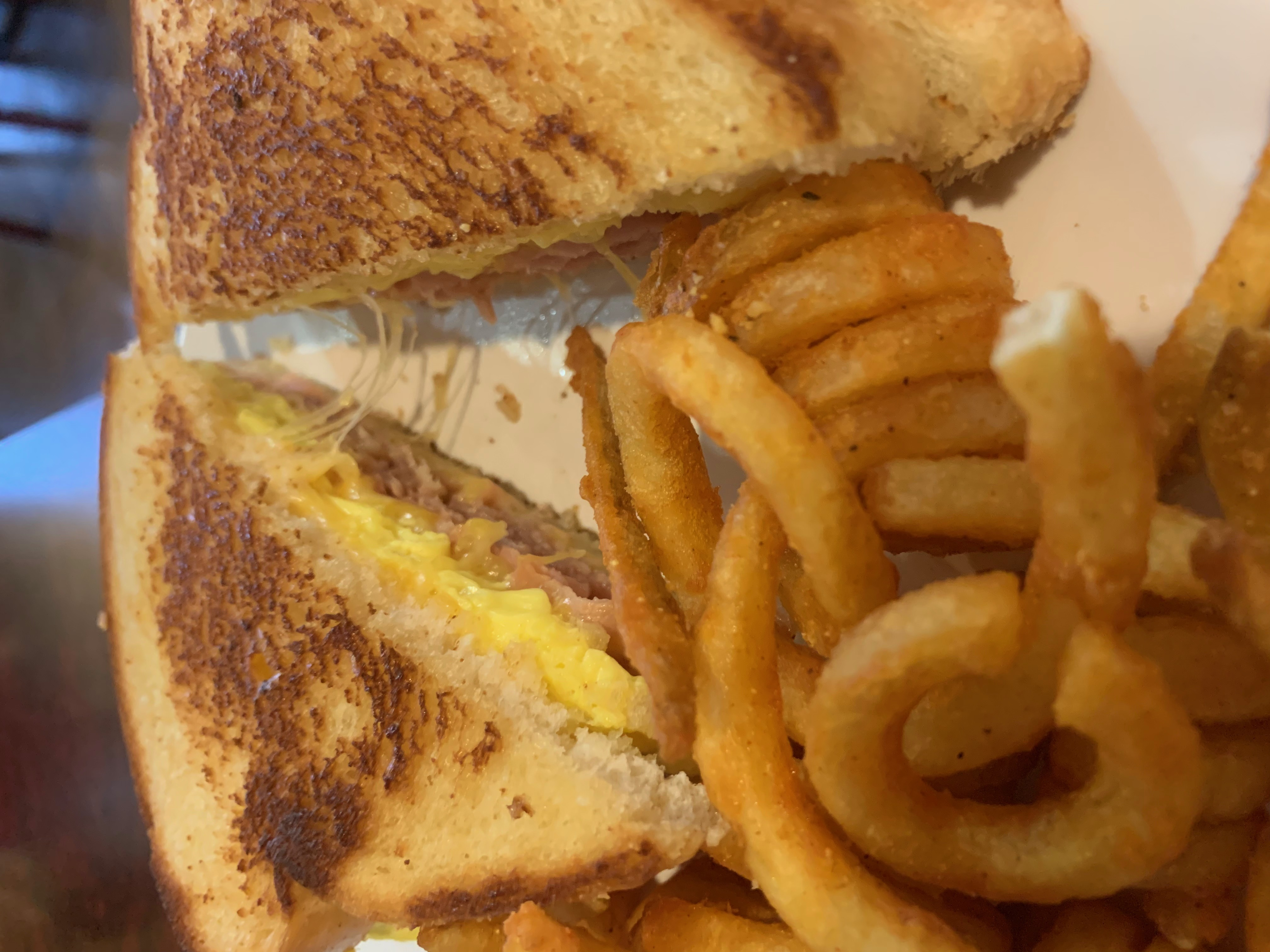 Breakfast Ham and Egg Grilled Cheese Sandwich Image