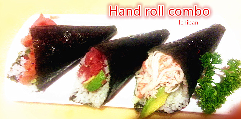2. Hand Roll Combo (1 pcs each)