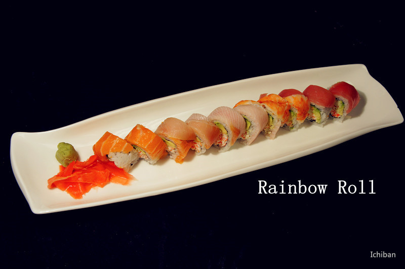 26. Rainbow Roll (10 pcs)