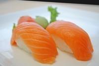 Smoked Salmon (Sake) Sushi Image
