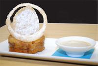Warm Lychee Bread Pudding
