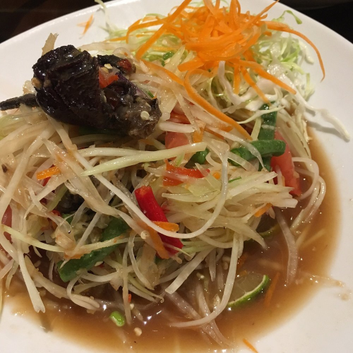 Papaya Salad with Salty Crab