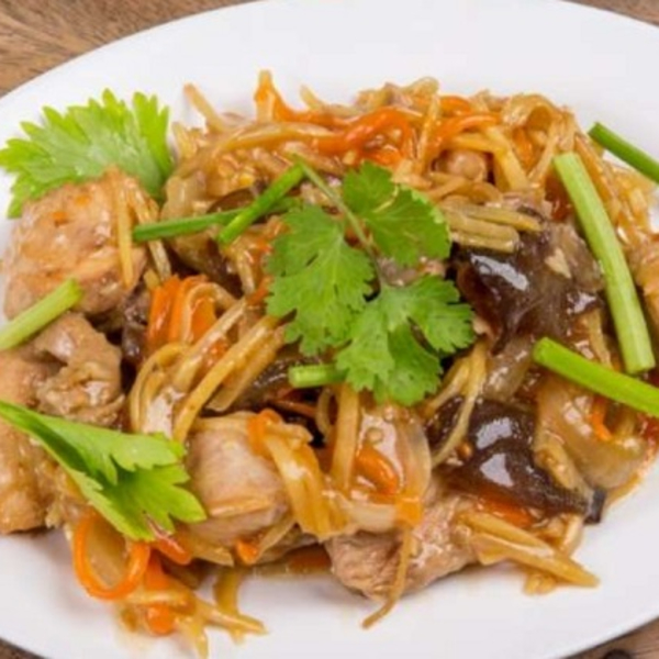 Wok Stir-Fried with Ginger Sauce