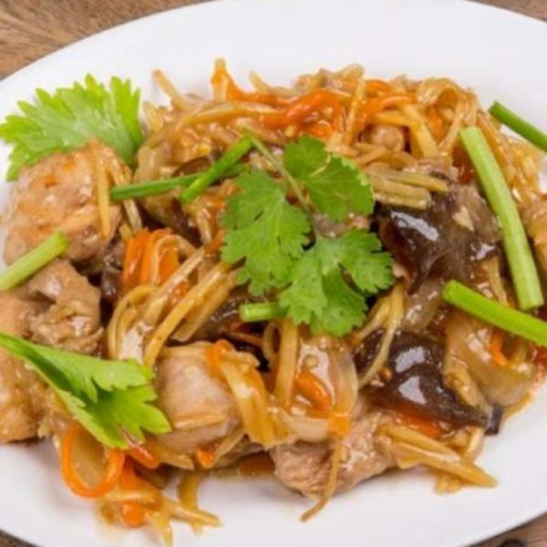 Wok Stir-Fried with Ginger Sauce Image