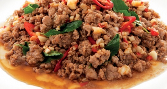 Wok Stir-Fried with Basil Sauce (Lunch) Image