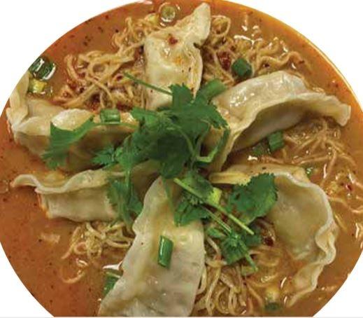 (C7) Tom Yum Noodle with Dumplings