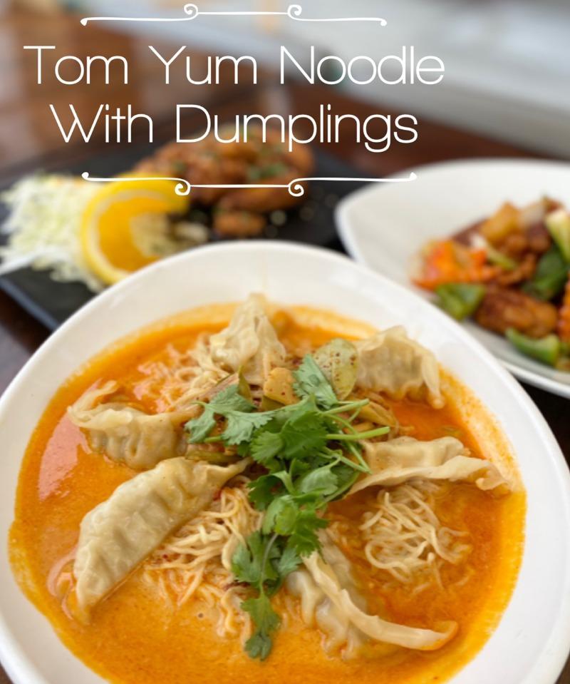 (C7) Tom Yum Noodle with Dumplings Image