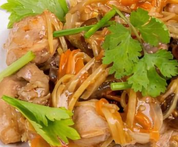 Wok Stir-Fried with Ginger Sauce