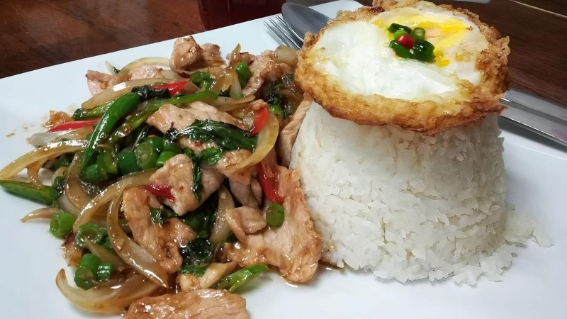 (LS) Stir-fried minced chicken with fried egg