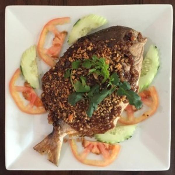 Fried Pompano Fish (whole) Image