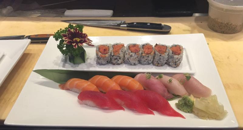 7.  Tri-Color Sushi Image