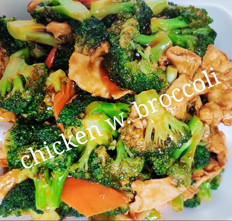 芥兰鸡 L 7. Chicken w. Broccoli