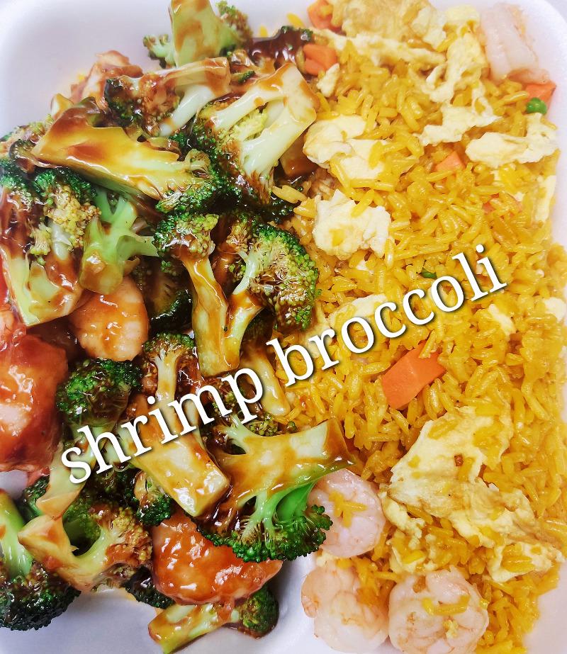 芥兰虾 102. Shrimp w. Broccoli
