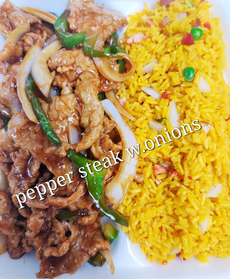 青椒牛 87. Pepper Steak w. Onions