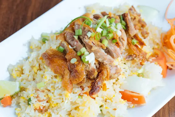 Crispy duck fried rice Image
