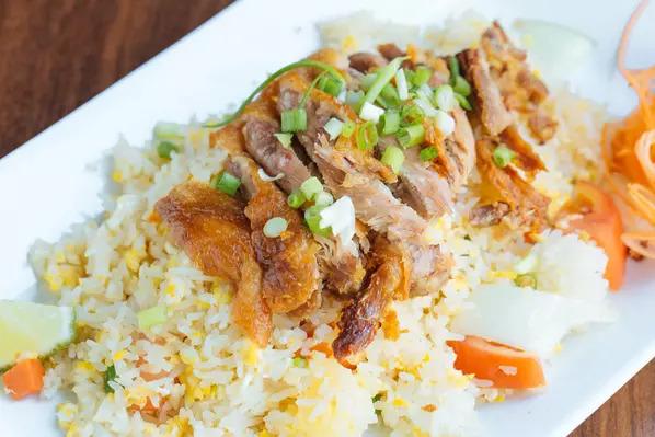 Crispy duck fried rice Image