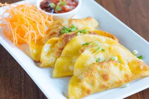 Garlic ginger dumplings