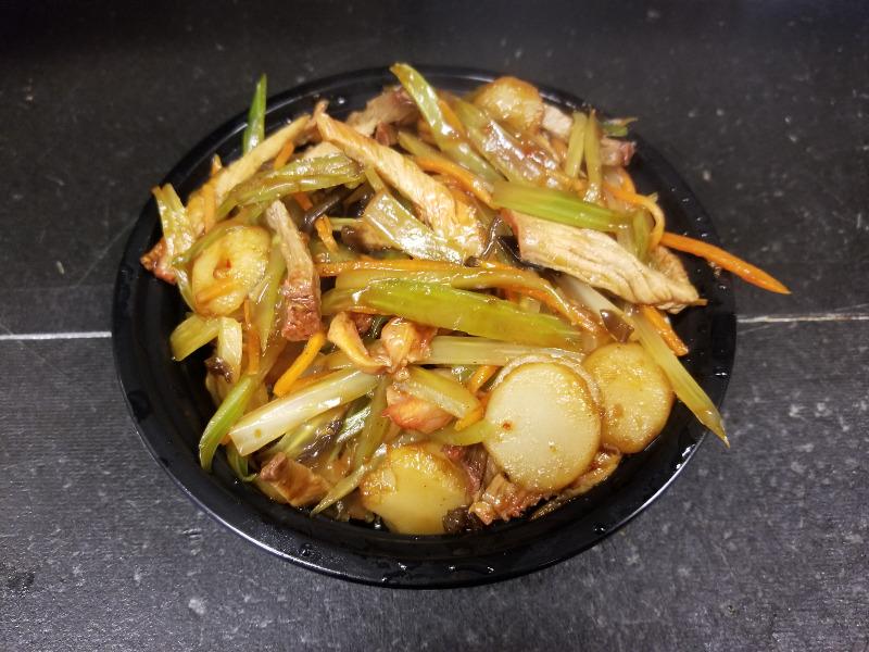 92. 蒜蓉肉 Shredded Pork w. Garlic Sauce