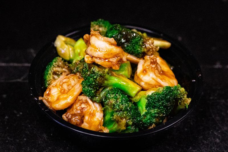 124. 芥蓝虾 Shrimp w. Broccoli