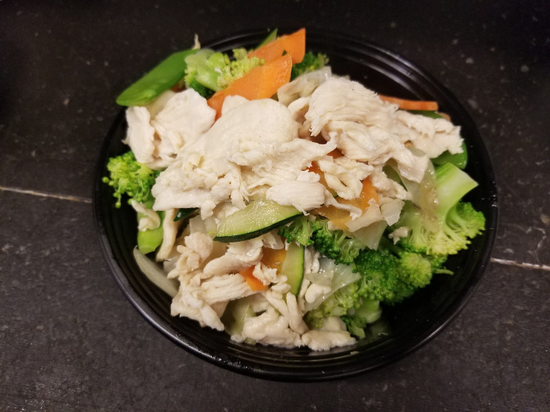 H 2. 水煮什菜鸡 Steamed Mixed Vegetable w. Chicken Image