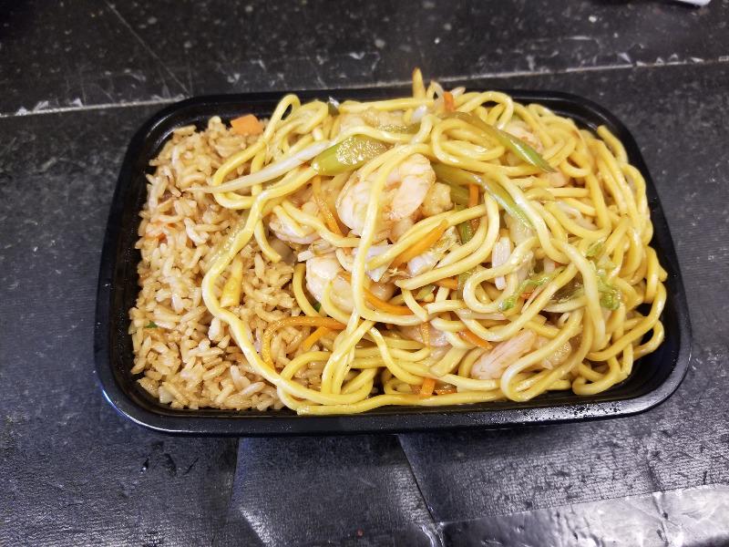 C 2. 虾捞面 Shrimp Lo Mein Image