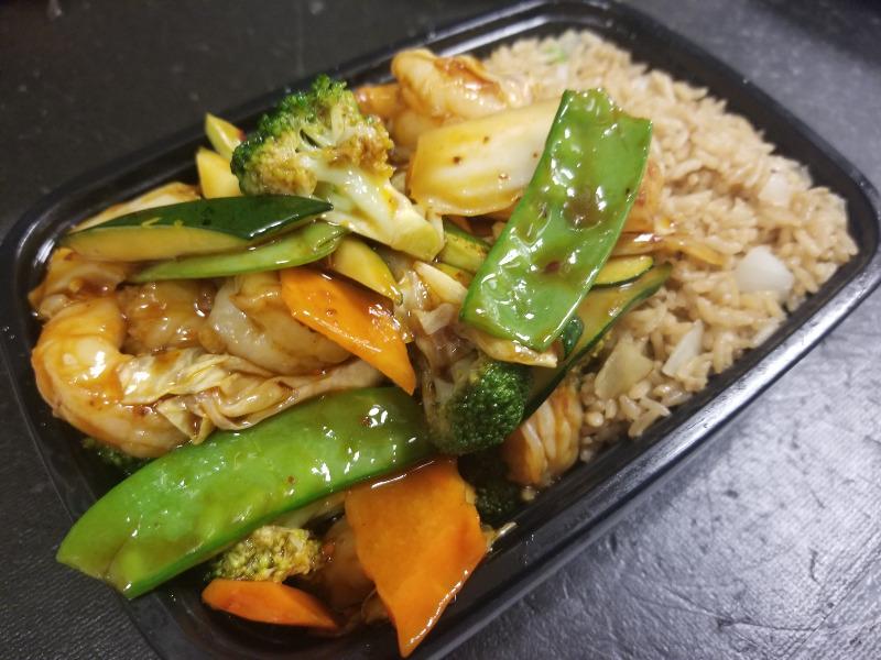 C19. 什菜虾 Shrimp w. Mixed Vegetable