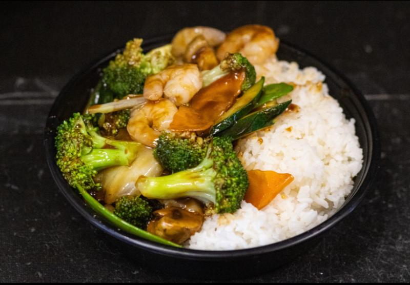 L28. 什菜虾 Shrimp w. Mixed Vegetables Image