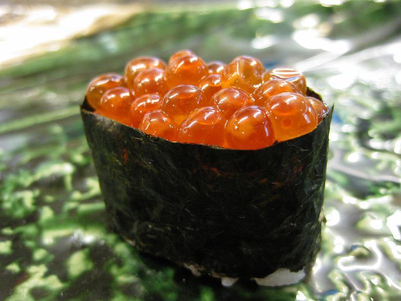 Salmon Egg Nigiri