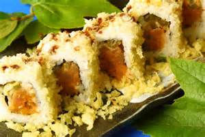 Sexy Spicy Salmon Crunch Roll Image