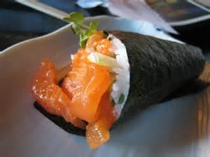 Spicy Salmon Hand Roll Image