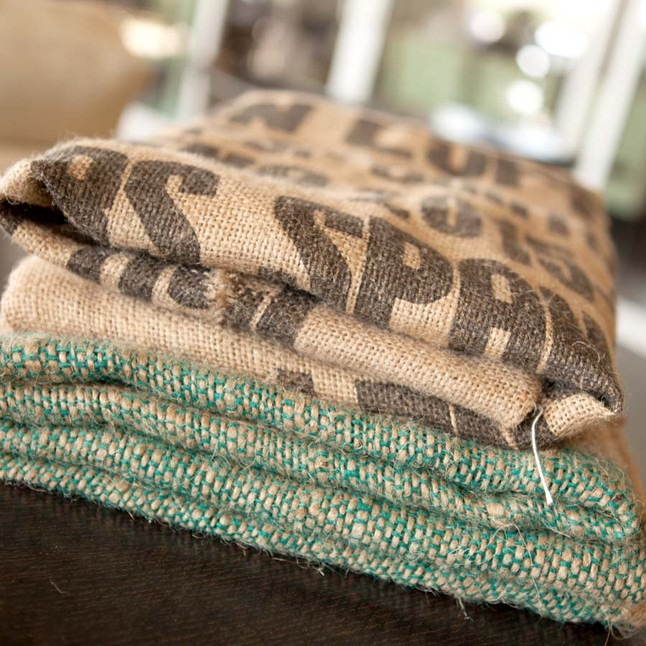 Burlap Coffee Bag Image