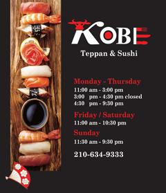 Kobe Teppan & Sushi - Live Oak