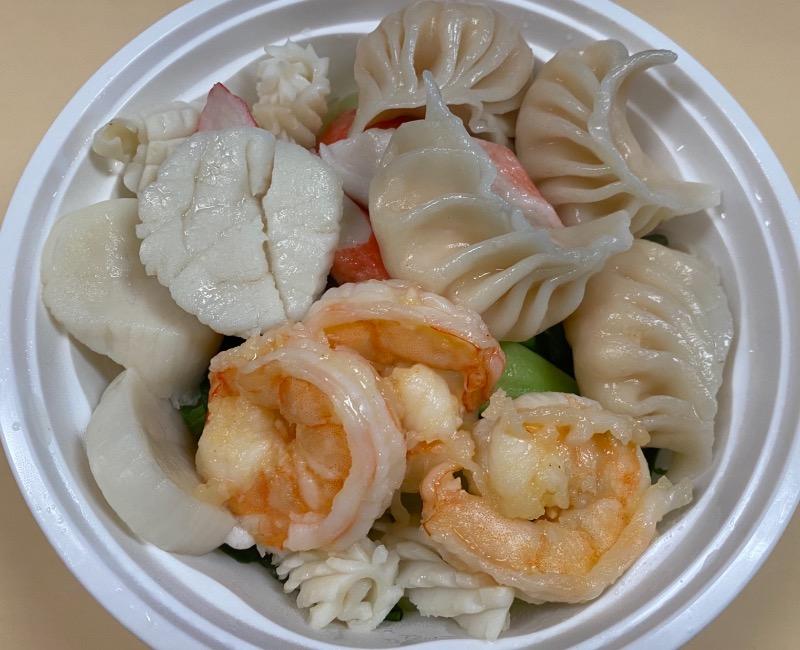 海鲜虾饺汤面 Seafood Shrimp Dumpling Noodle Soup