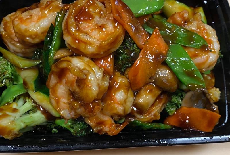 什菜虾 Shrimp w. Mixed Vegetables