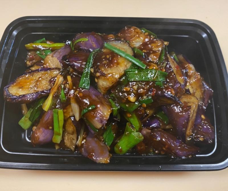 鱼香茄子 Eggplant w. Garlic Sauce