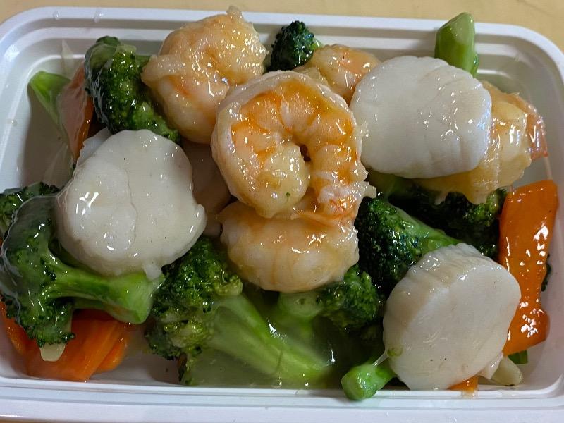 芥兰干贝虾 Shrimp & Scallop with Broccoli Image
