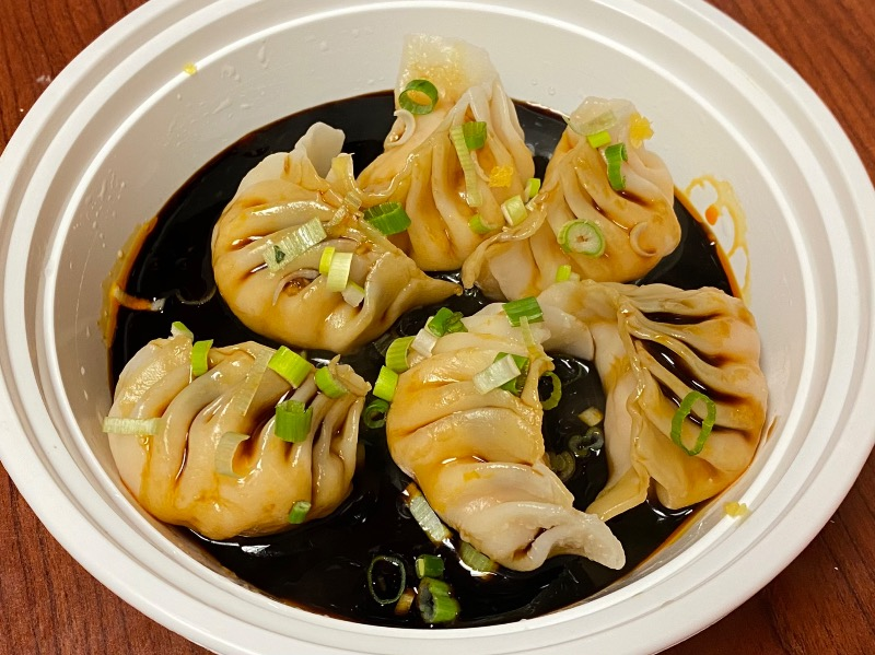 四川蒸虾饺 Steamed Shrimp Dumpling in Szechuan Sauce