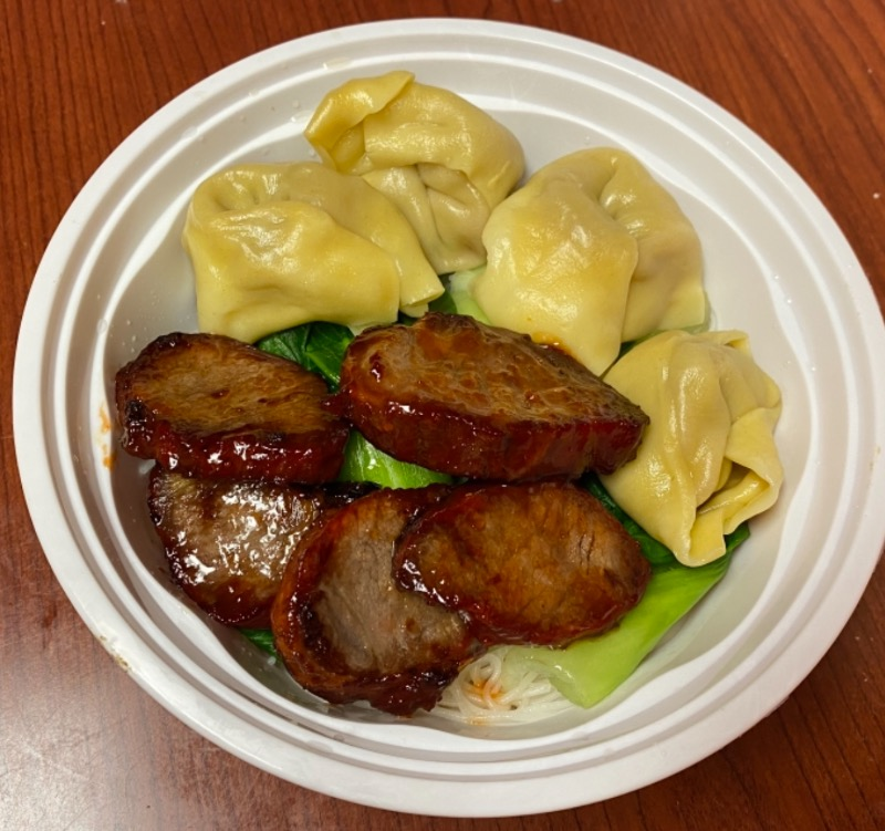 叉烧肉云吞汤面 Roasted Pork & Pork Wonton Noodle Soup Image