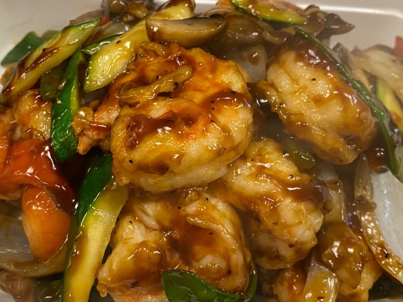 吱吱热板虾 Shrimp Sizzling Hot Plate