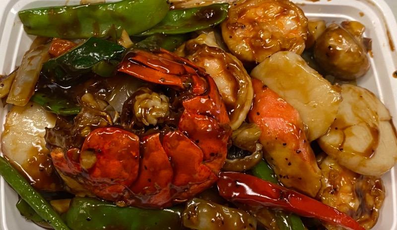 吱吱热板海鲜 Seafood Sizzling Hot Plate