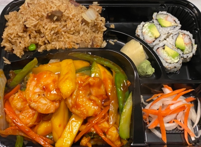 泰式芒果虾便当 Thai Mango Shrimp Bento Box Image