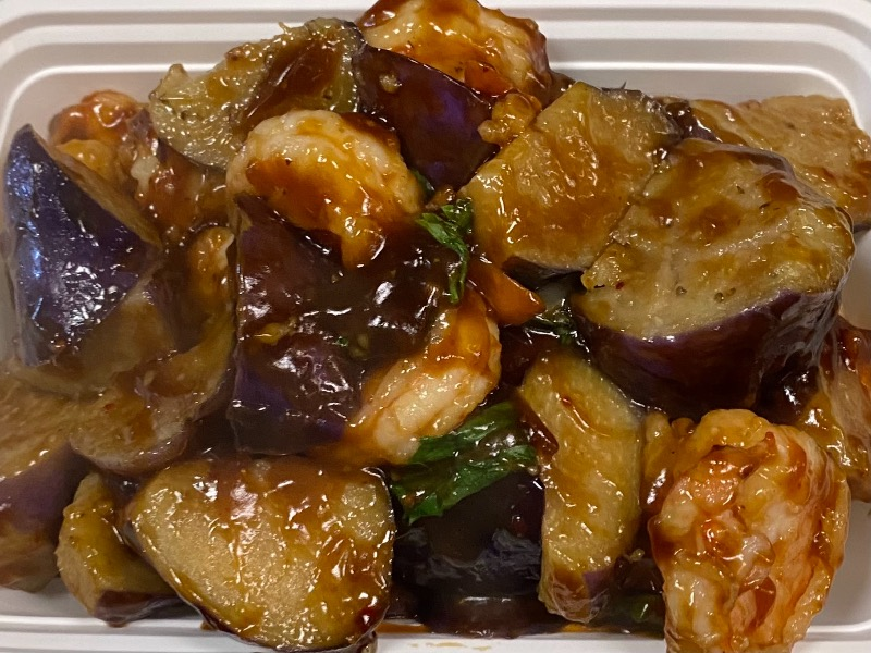 泰式茄子虾 Thai Eggplant Shrimp Image