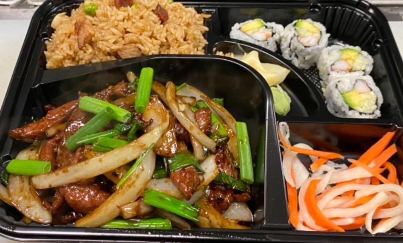 蒙古牛便当 Mongolian Beef Bento Box Image