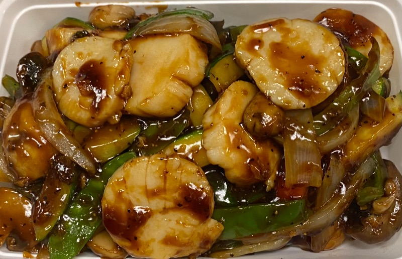 吱吱热板干贝 Scallop Sizzling Hot Plate