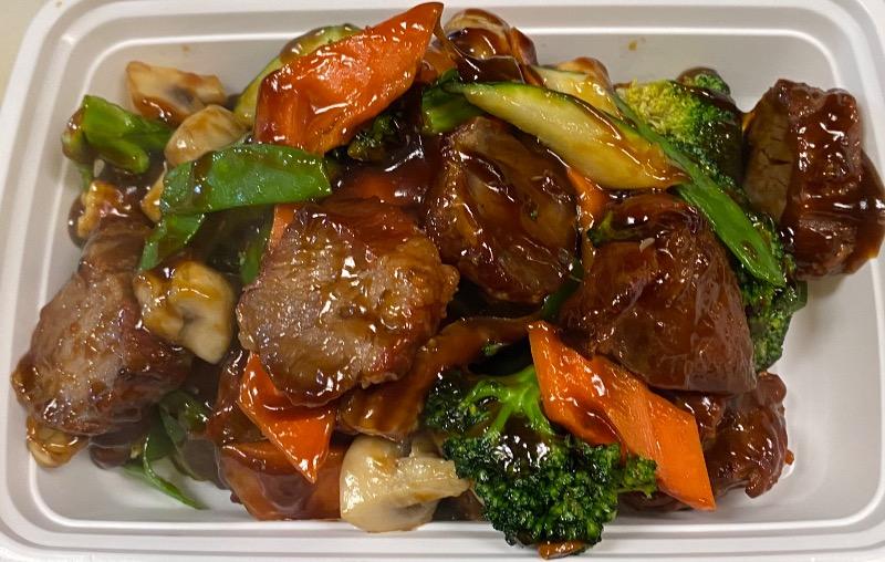 什菜叉烧Roasted Pork w. Mixed Veg.